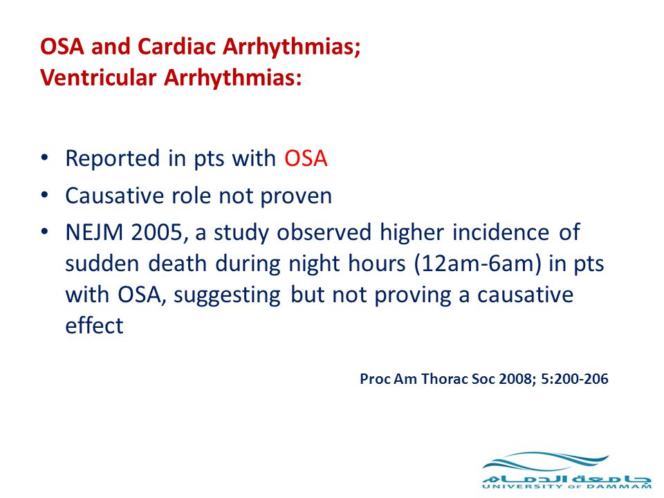 OSA and Cardiac Arrhythmias; Ventricular Arrhythmias:
