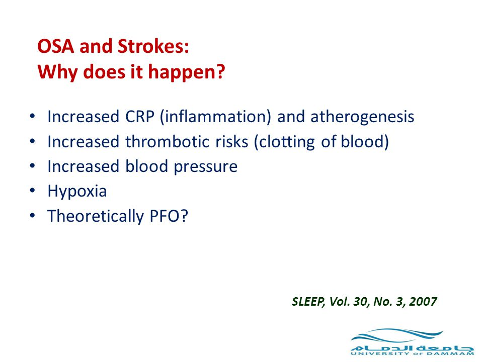 OSA and Strokes: Why does it happen