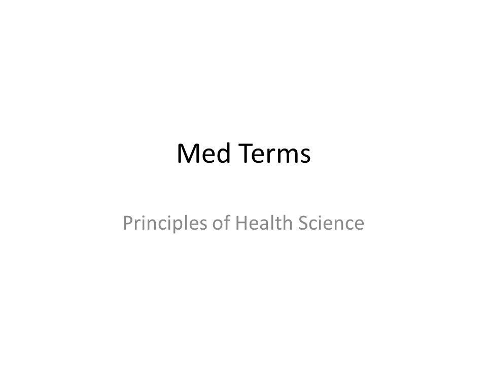 Principles of Health Science