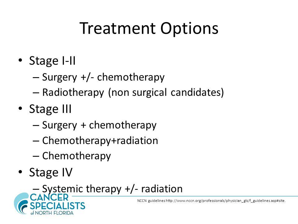 Treatment Options Stage I-II Stage III Stage IV