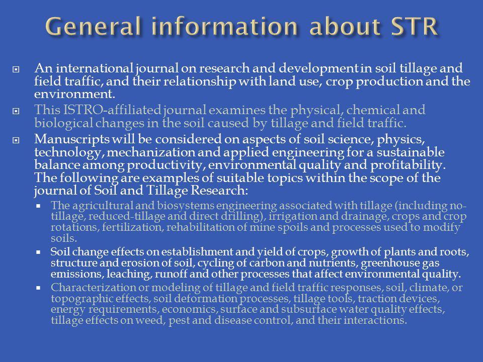 General information about STR