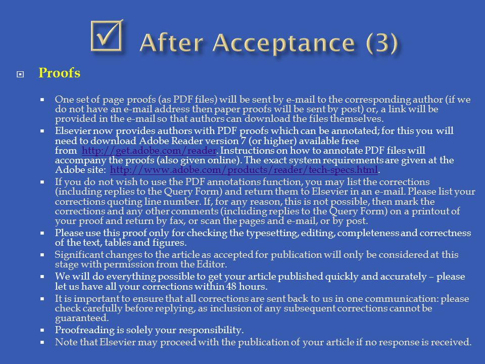  After Acceptance (3) Proofs