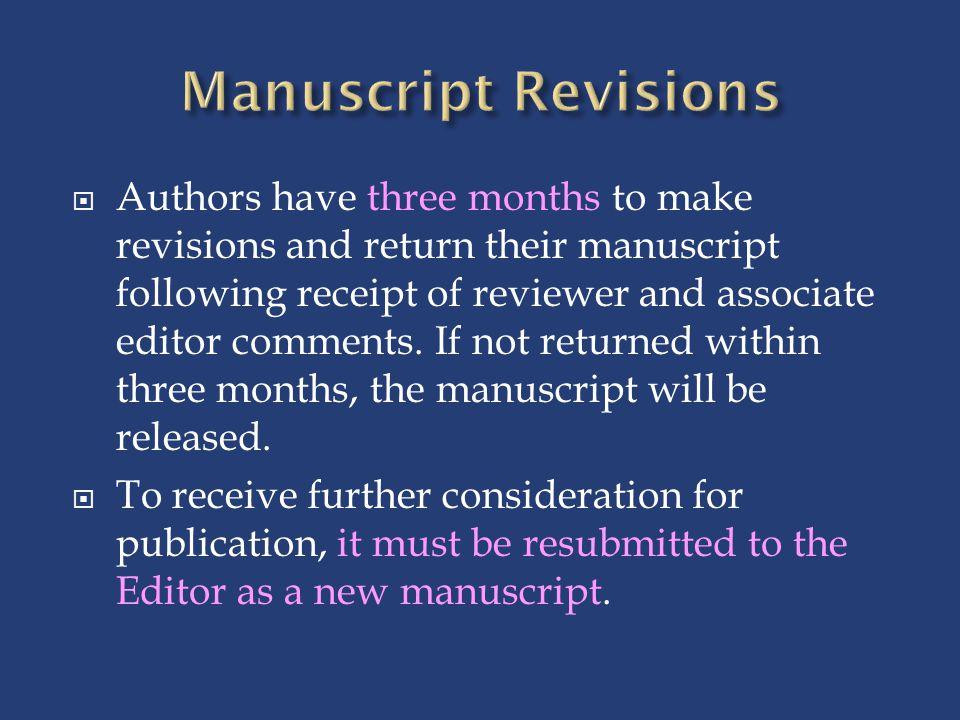 Manuscript Revisions