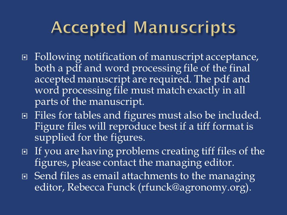 Accepted Manuscripts