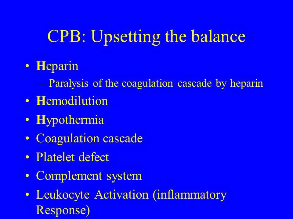 CPB: Upsetting the balance