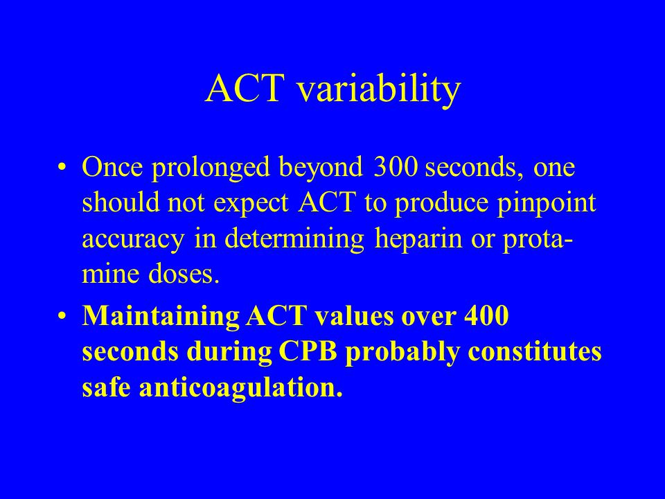 ACT variability