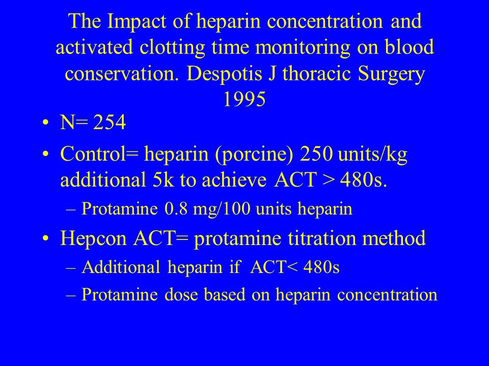 Hepcon ACT= protamine titration method