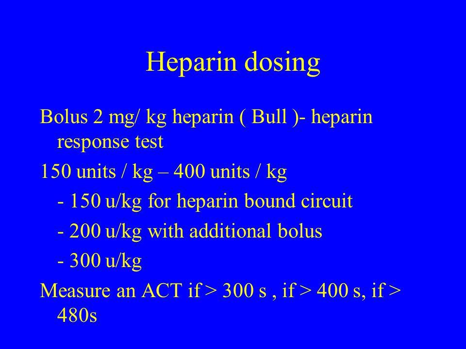 Heparin dosing