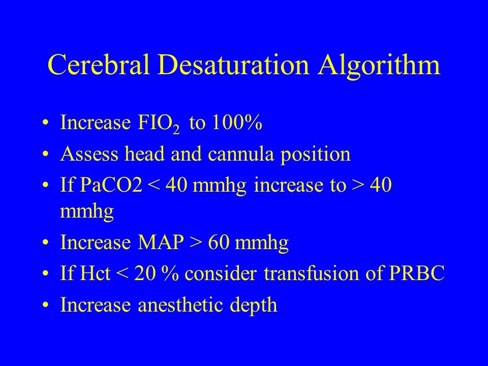 Cerebral Desaturation Algorithm