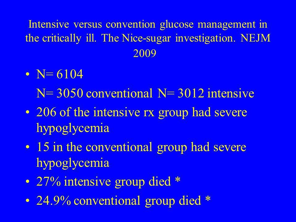 N= 3050 conventional N= 3012 intensive