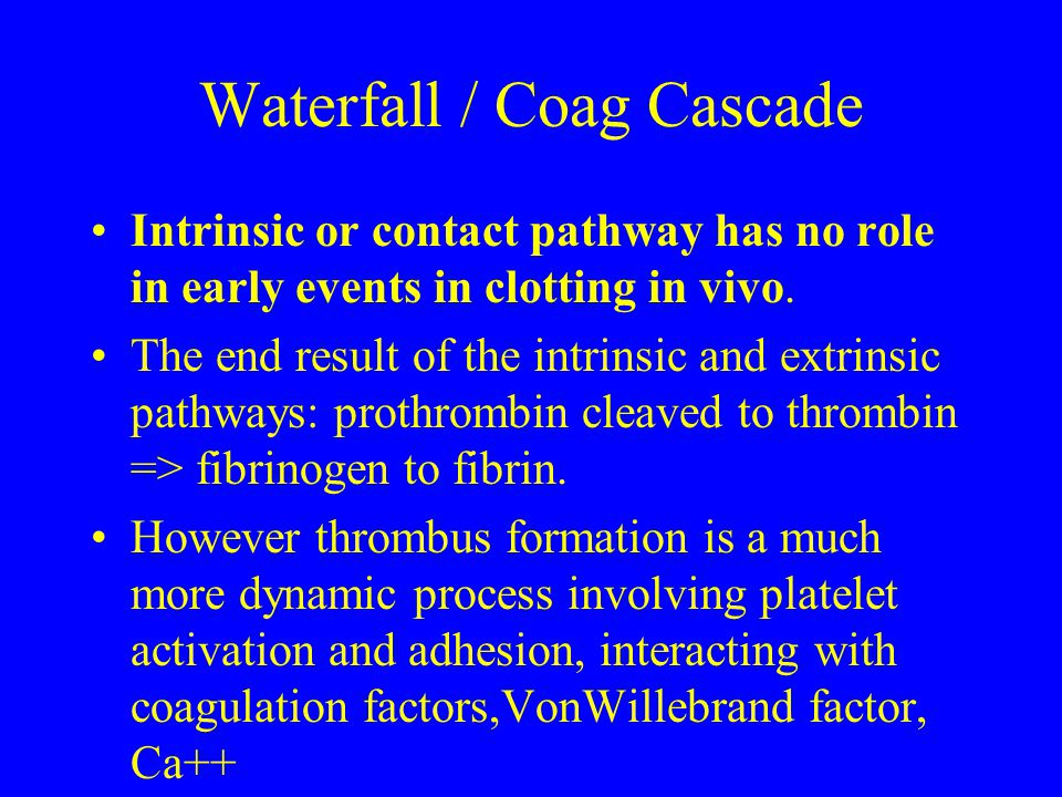 Waterfall / Coag Cascade
