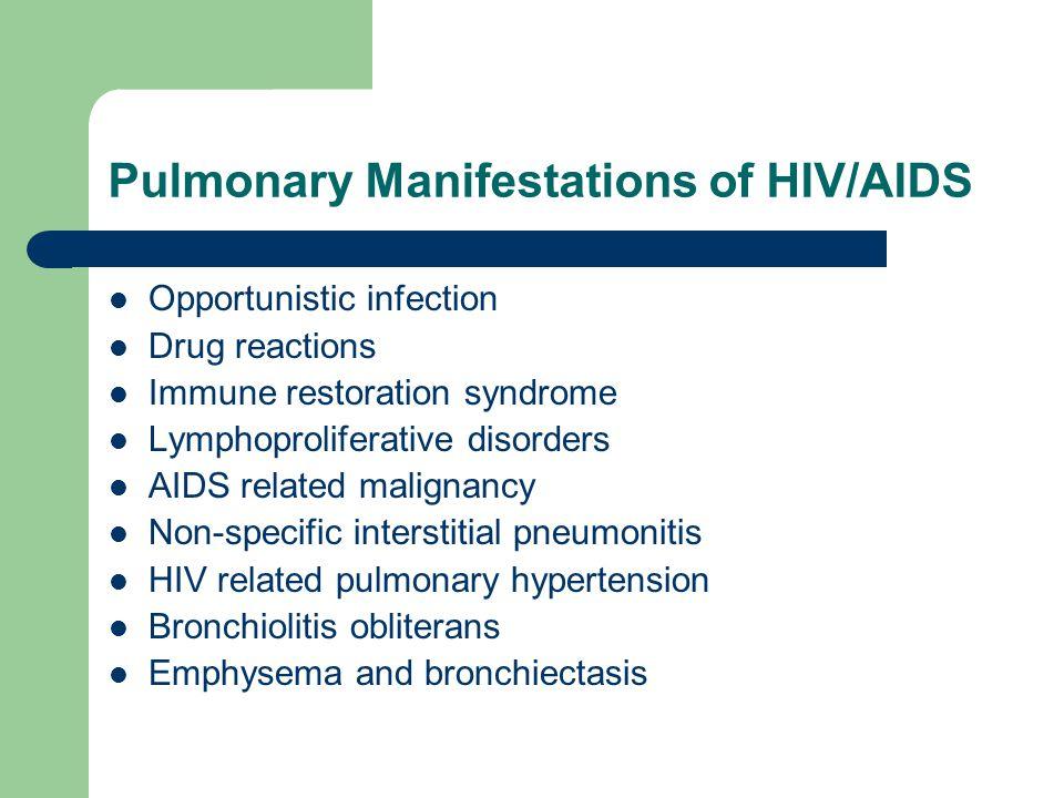 Pulmonary Manifestations of HIV/AIDS