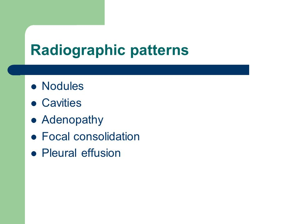 Radiographic patterns