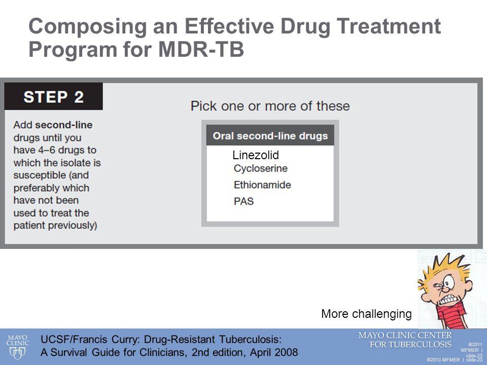 Composing an Effective Drug Treatment Program for MDR-TB