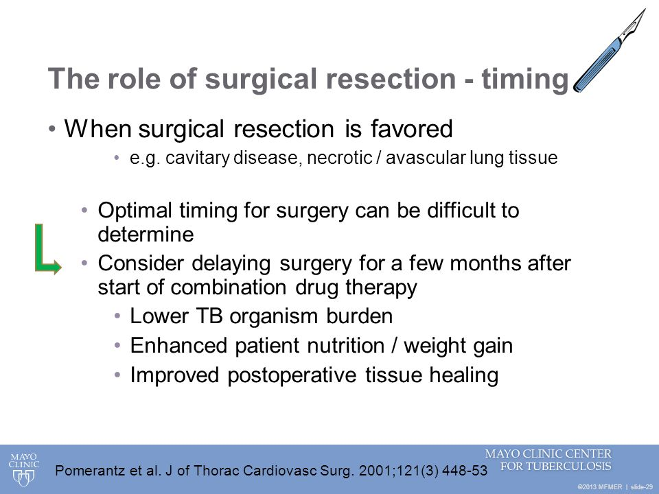 The role of surgical resection - timing