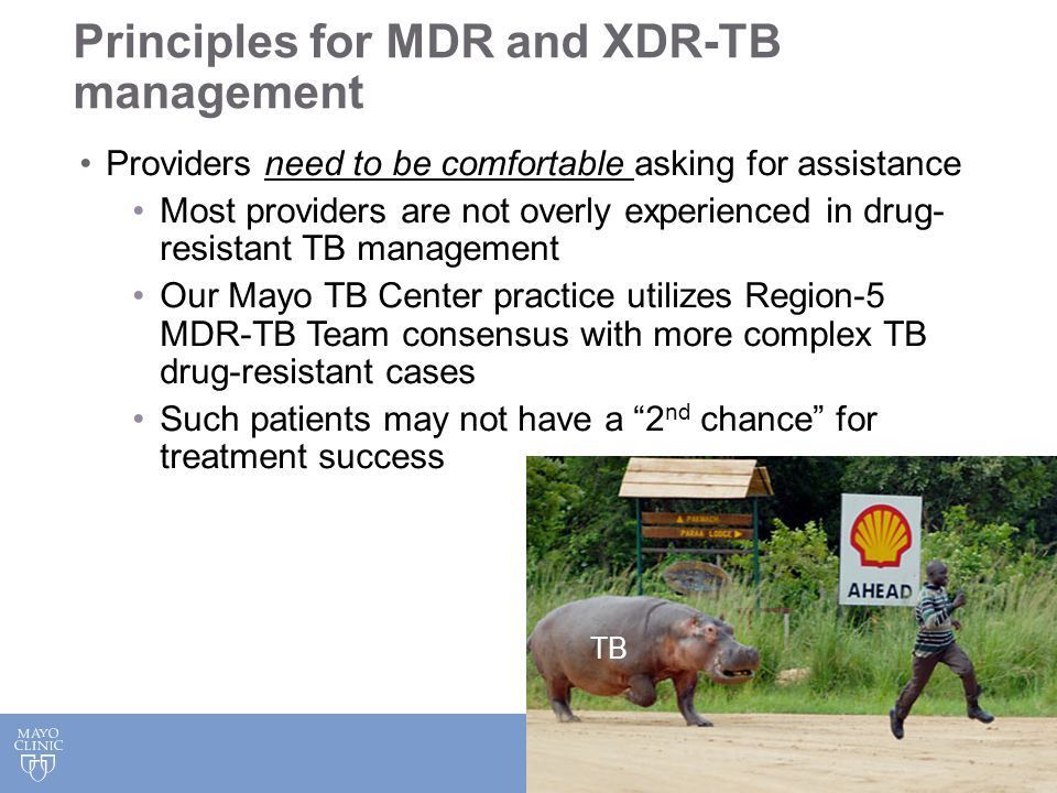 Principles for MDR and XDR-TB management