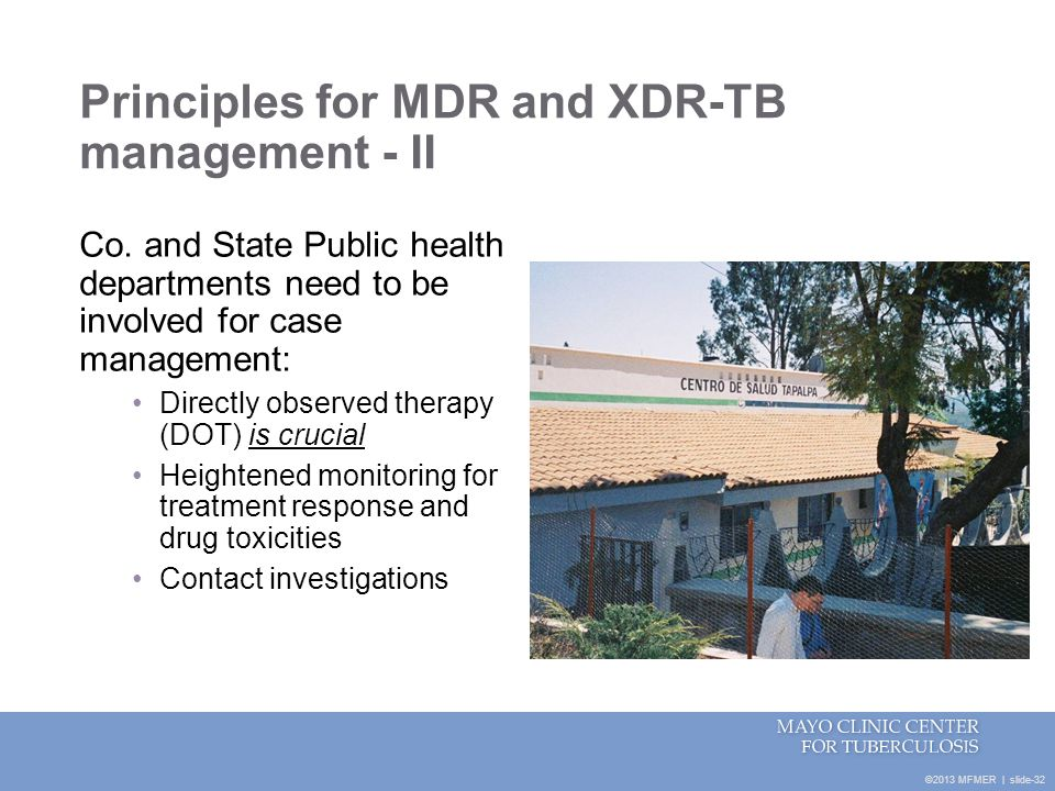 Principles for MDR and XDR-TB management - II