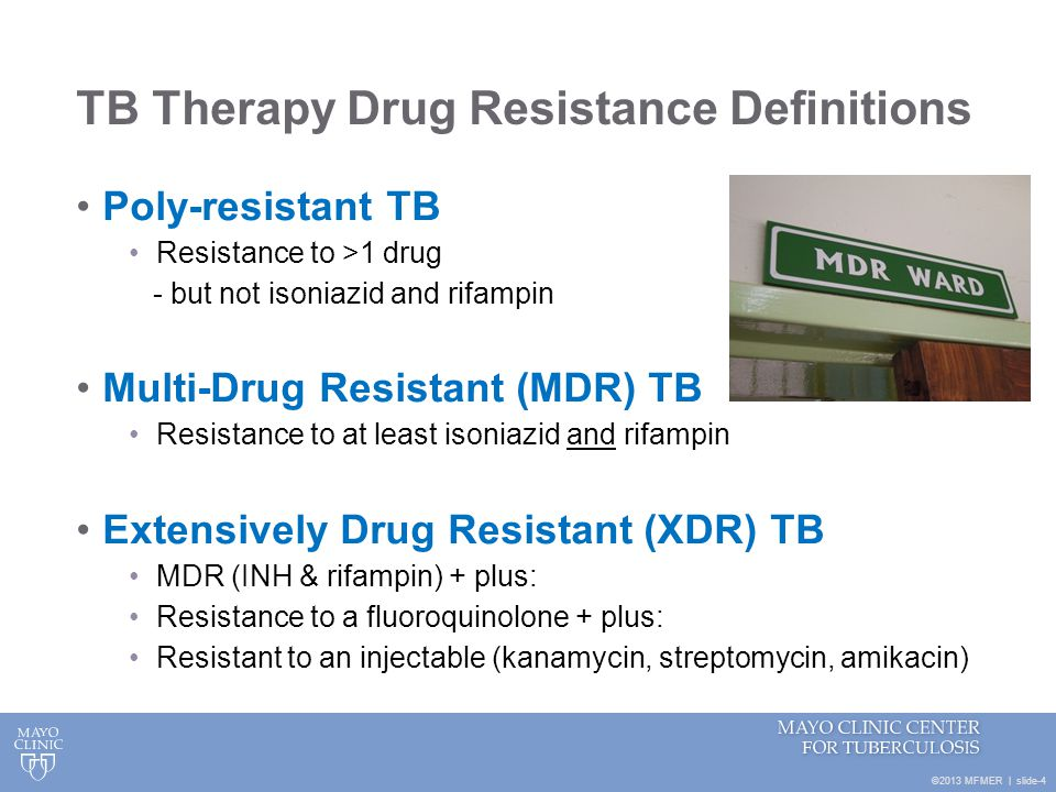 TB Therapy Drug Resistance Definitions