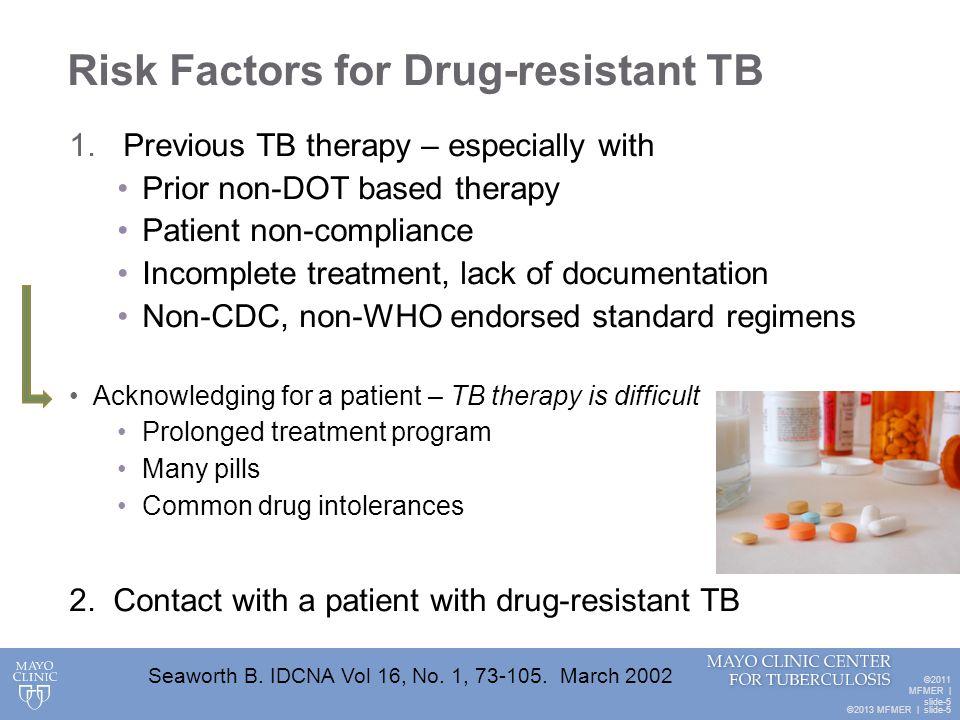 Risk Factors for Drug-resistant TB
