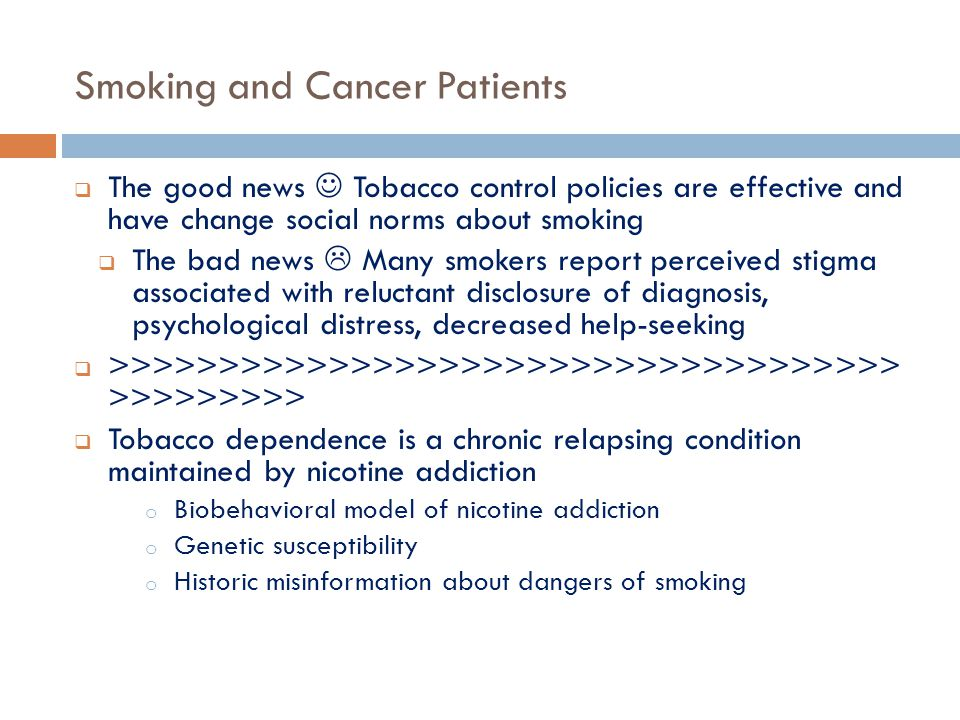 Smoking and Cancer Patients