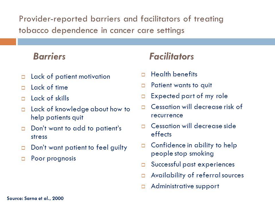 Barriers Facilitators