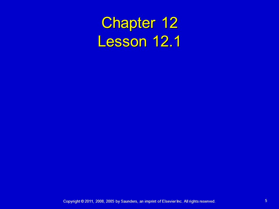 Chapter 12 Lesson 12.1