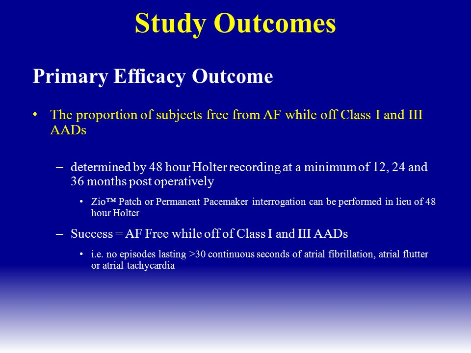 Study Outcomes Primary Efficacy Outcome