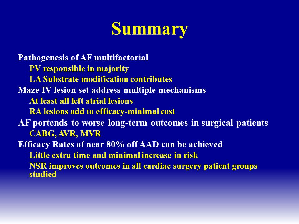Summary AF portends to worse long-term outcomes in surgical patients