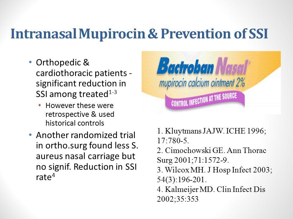 Intranasal Mupirocin & Prevention of SSI