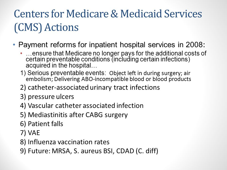 Centers for Medicare & Medicaid Services (CMS) Actions