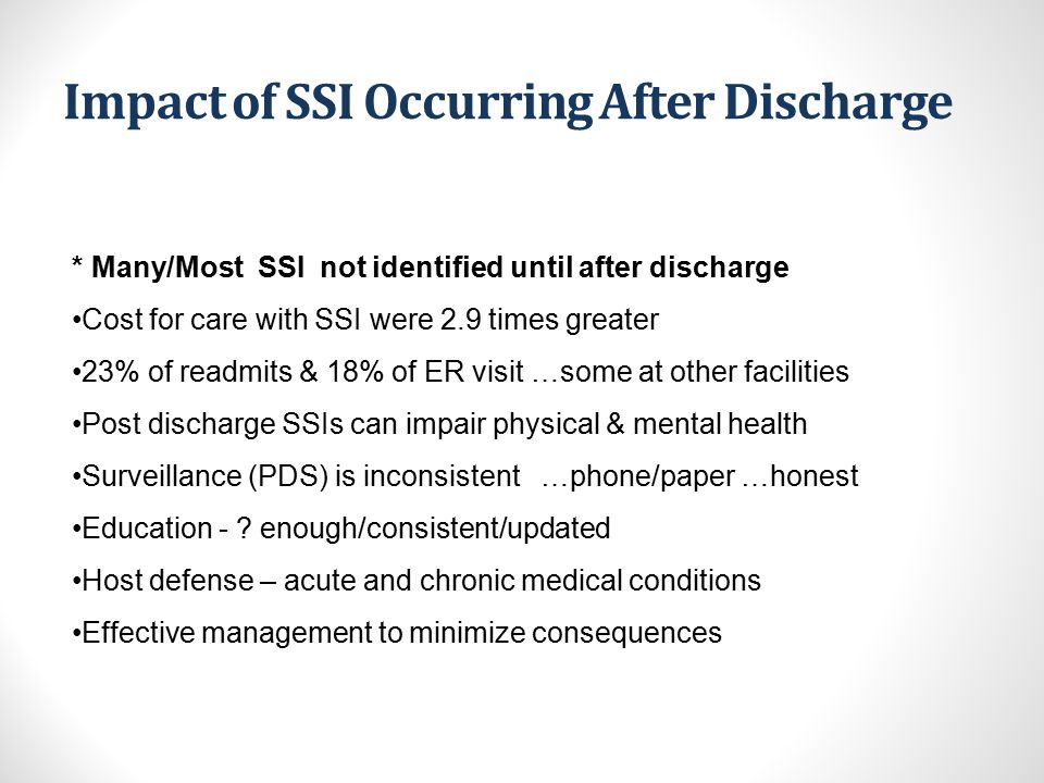 Impact of SSI Occurring After Discharge