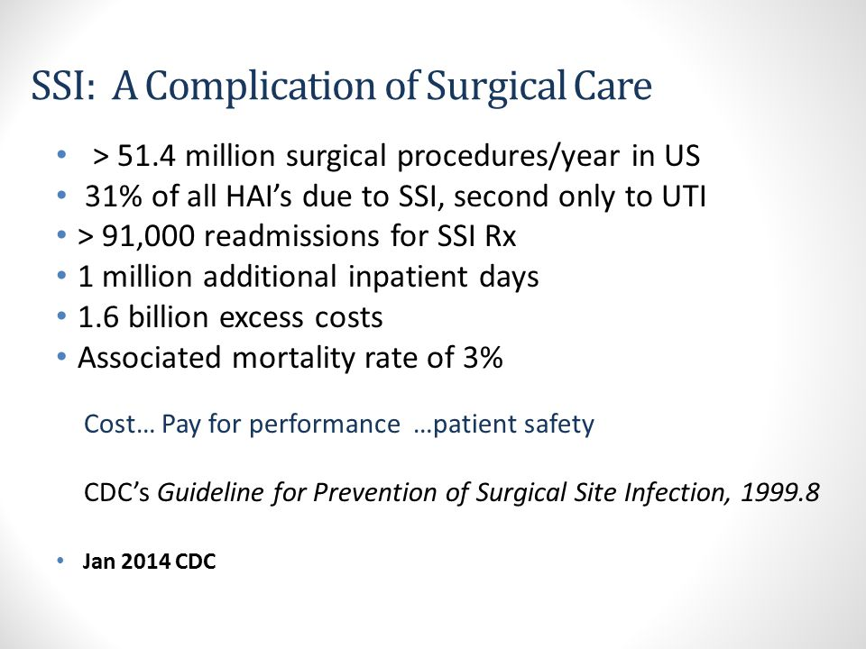 SSI: A Complication of Surgical Care