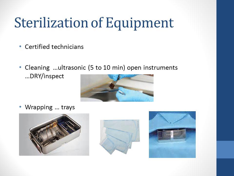 Sterilization of Equipment