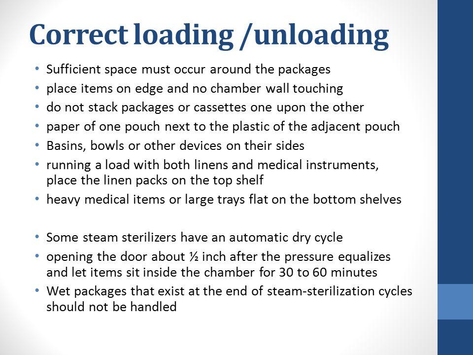 Correct loading /unloading