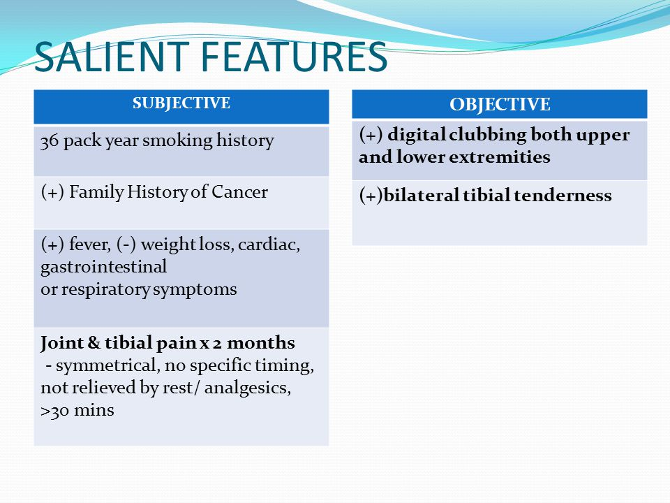 SALIENT FEATURES OBJECTIVE