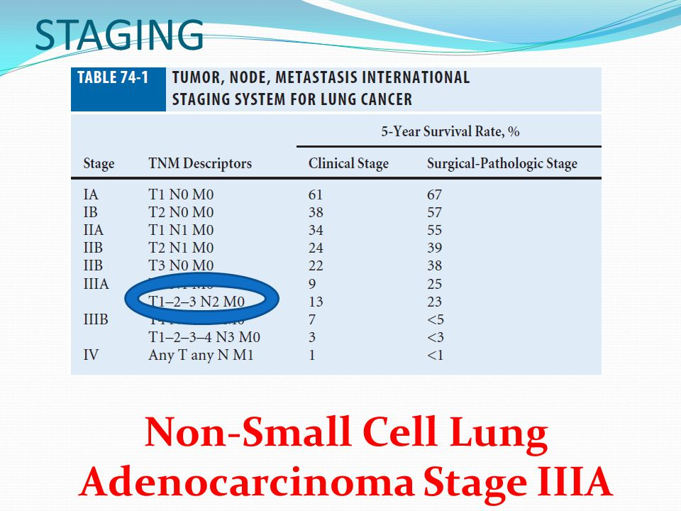 Non-Small Cell Lung Adenocarcinoma Stage IIIA