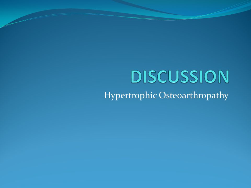 Hypertrophic Osteoarthropathy