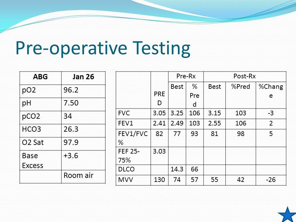 Pre-operative Testing