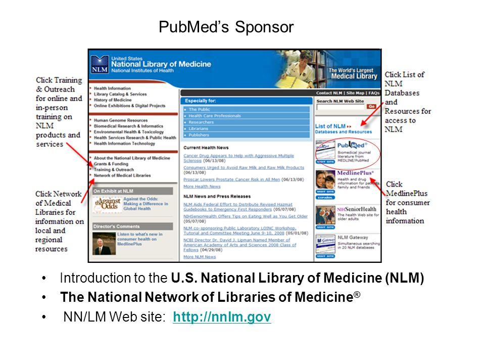 PubMed's Sponsor