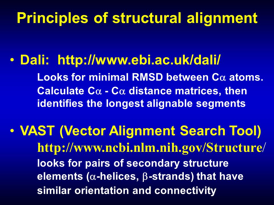 Principles of structural alignment