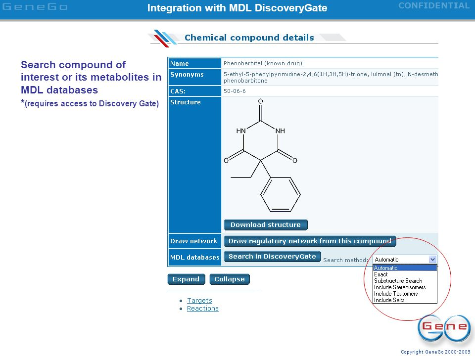 Integration with MDL DiscoveryGate