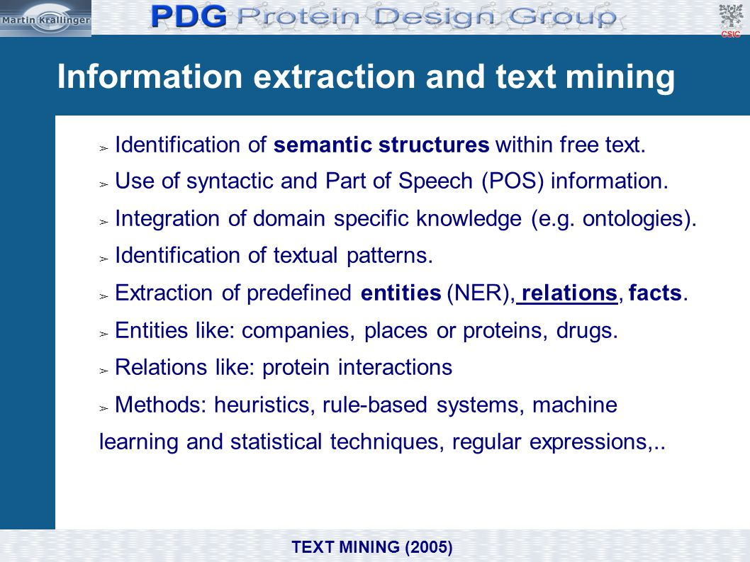 Information extraction and text mining
