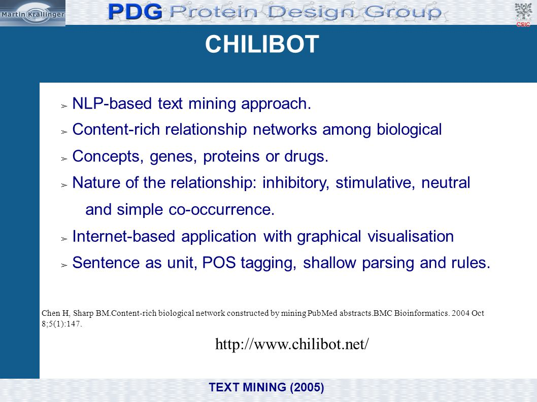 CHILIBOT NLP-based text mining approach.