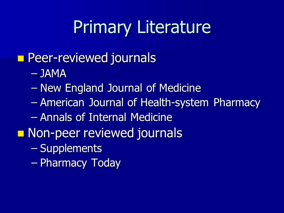 Non peer reviewed journals