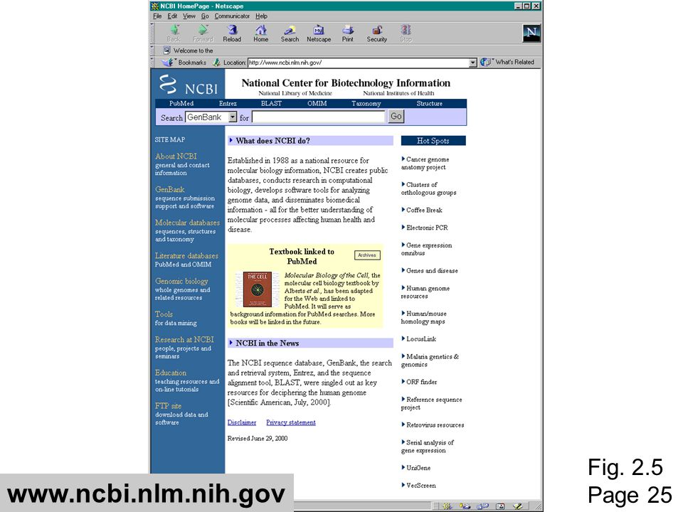 Fig. 2.5 Page 25 www.ncbi.nlm.nih.gov