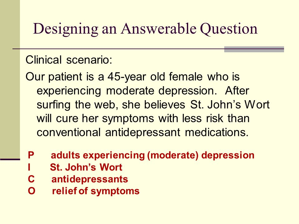 Designing an Answerable Question