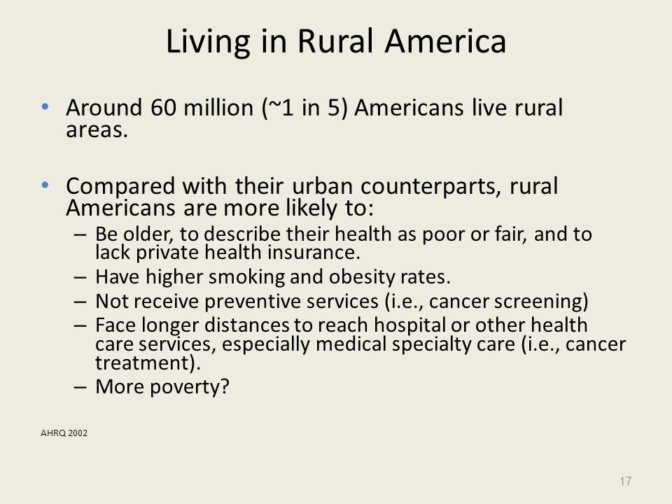 Living in Rural America