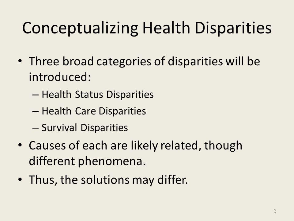 Conceptualizing Health Disparities