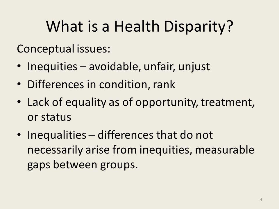 What is a Health Disparity