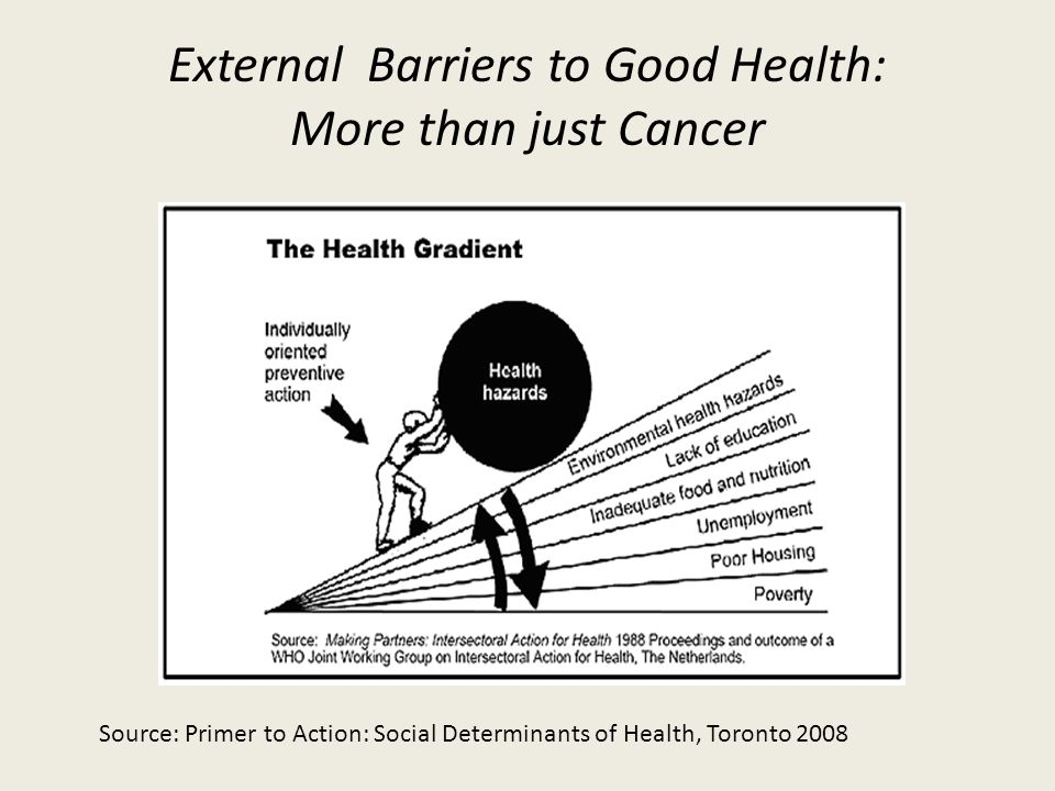 External Barriers to Good Health:
